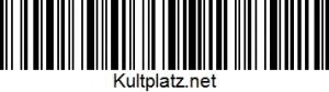 Kultplatz-Barcode
