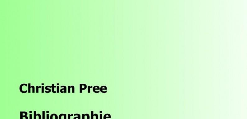 [BUCHTIPP]: Christian Pree: Bibliographien …