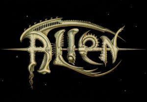Nicht verwendeter Schriftzug für Alien von H.R. Giger