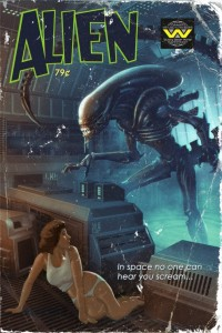 Cover: Fake Pulp-Cover Alien