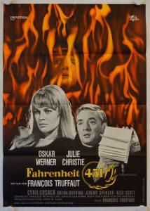Filmposter: Fahrenheit 451, 1966, Francois Truffaut