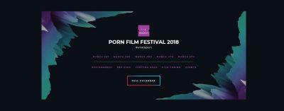 Screenshot Website Porn Film Festival Vienna 2018