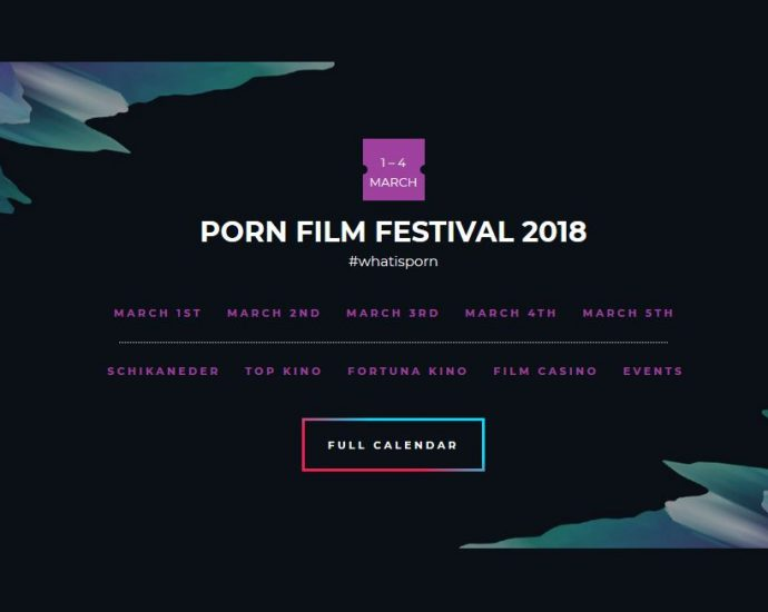 Screenshot Website Porn Film Festival Vienna 2018